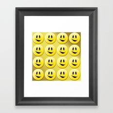 Smiley Smileys! Framed Art Print