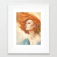 artgerm Framed Art Prints featuring Pepper Breeze New by Artgerm™