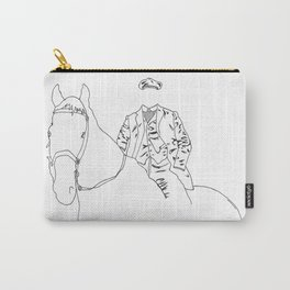 Horse and Fashion Blanc Carry-All Pouch