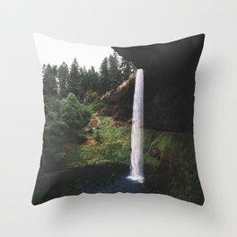 Waterfalling Throw Pillow