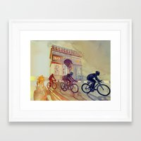 tour de france Framed Art Prints featuring Tour de France by takmaj