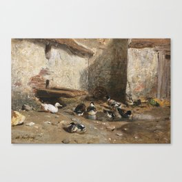 Cornelis Bisschop Decorative Scene Canvas Print