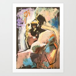 Bearded man, 2018 Art Print