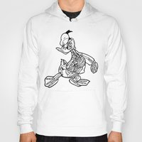 donald duck Hoodies featuring Donald Duck / Skeleton by tshirtsz