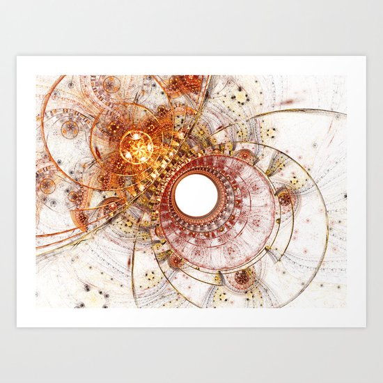 Fiery Temperament Art Print
