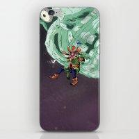 majoras mask iPhone & iPod Skins featuring Skull Kid Majoras Mask by Aaron Pittman