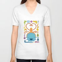 best friends V-neck T-shirts featuring Best Friends by Piktorama