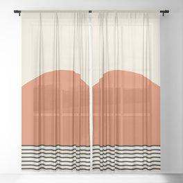 Sunrise / Sunset - Orange & Black Sheer Curtain
