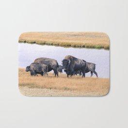 Bisons of Yellowstone Bath Mat