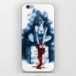 Vamp Perched on Headstone iPhone Skin