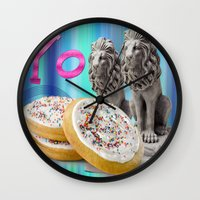 cookies Wall Clocks featuring COOKIES! by Aldo Couture