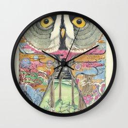 Great Grey Owl Wall Clock