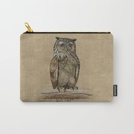 Paper Bag Owl Carry-All Pouch