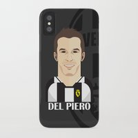 juventus iPhone & iPod Cases featuring Del Piero Toon by Sport_Designs
