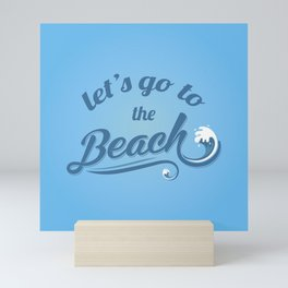 The Beach Lover I Mini Art Print