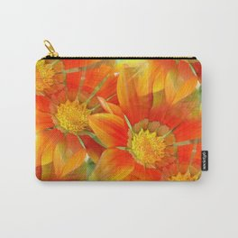 Seamless Vibrant Yellow Gazania Flower Carry-All Pouch