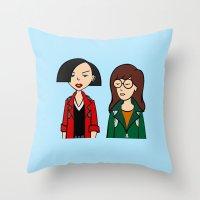 daria Throw Pillows featuring Daria & Jane by Marianna