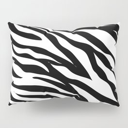 modern safari animal print black and white zebra stripes Pillow Sham