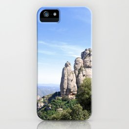 Landscape of Montserrat mountain in Catalonia, Spain iPhone Case
