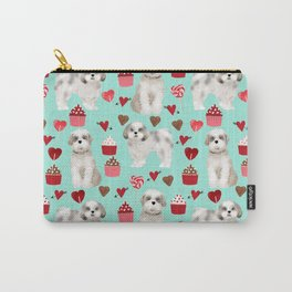 Shih Tzu valentines day pattern for dog lover with cute shih tzu puppy love by pet friendly Carry-All Pouch