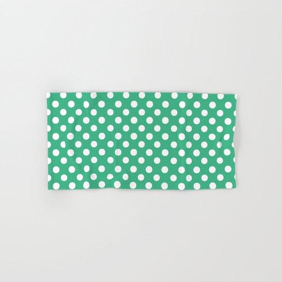 Polka Dots (White/Mint) Hand & Bath Towel