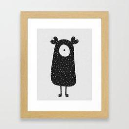 Polka Dotted Monster Framed Art Print