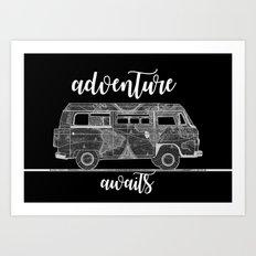adventure awaits world map design 5 Art Print
