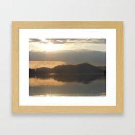 Late winter morning Framed Art Print