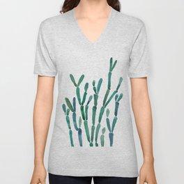 Succulent rhipsalis watercolor Unisex V-Neck