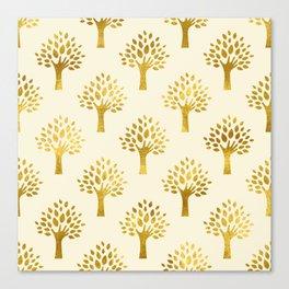 Cream Gold Foil 02 Canvas Print