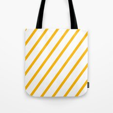 Yellow summer stripes Tote Bag