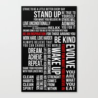 motivation Canvas Prints featuring MOTIVATION by Cindy Lepage
