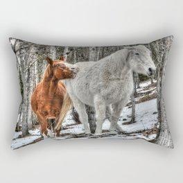 Caught in the Act Rectangular Pillow