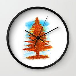 Fall Tree Wall Clock