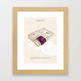 A painful Case - 100 Years of Dubliners Framed Art Print
