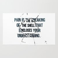 pain Area & Throw Rugs featuring Pain by fariedesign