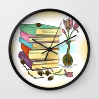 books Wall Clocks featuring Books by famenxt