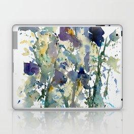 Iris Garden watercolor painting Laptop & iPad Skin