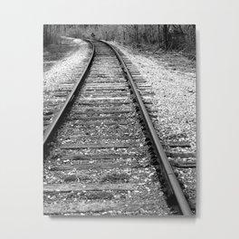 Train Tracks, Train Photography Metal Print
