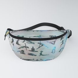 Labradorite Yoga Asanas  on mother of pearl Fanny Pack