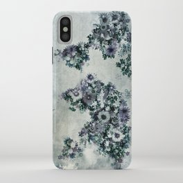 world map floral black and white iPhone Case