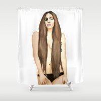 artpop Shower Curtains featuring ARTPOP by Alfonso Aranda
