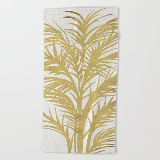 Gold Palms Beach Towel
