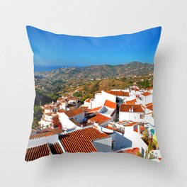 Frigiliana Andalucia Costa Del Sol Spain Throw Pillow