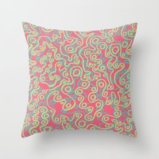 Neon Bubbles Throw Pillow