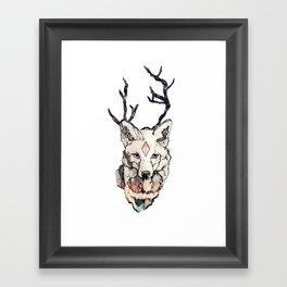 Fox Head Framed Art Print