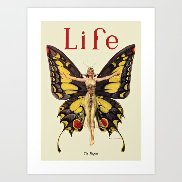 The Flapper by F.X. Leyendecker - Life Magazine Cover Art Print Kunstdrucke