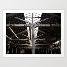 Beams on Beams on Beams Art Print