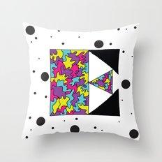 Letter E Throw Pillow