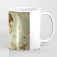 princess leia Mugs featuring Princess Leia by trevacristina